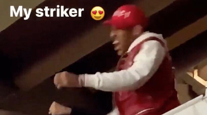 Pierre-Emerick Aubameyang's reaction to Nicolas Pepe's goal vs Vitoria is priceless