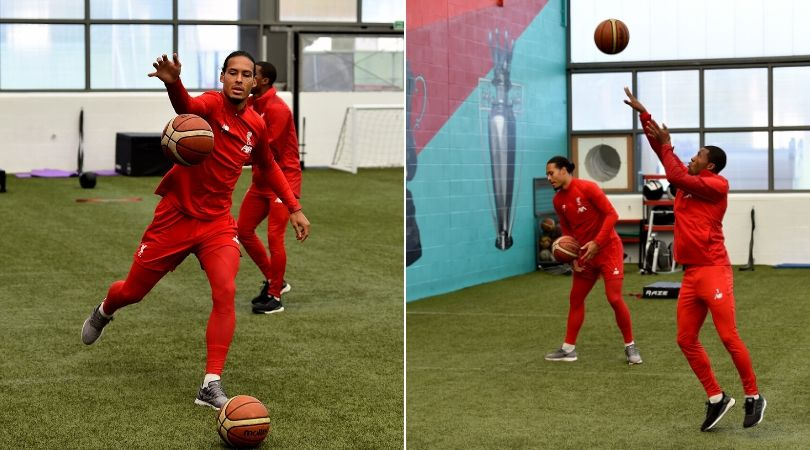 Liverpool players caught playing basketball during recent training session