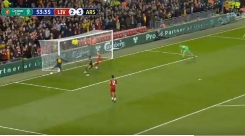 Mesut ozil makes an outrageous performance against Liverpool in League Cup match