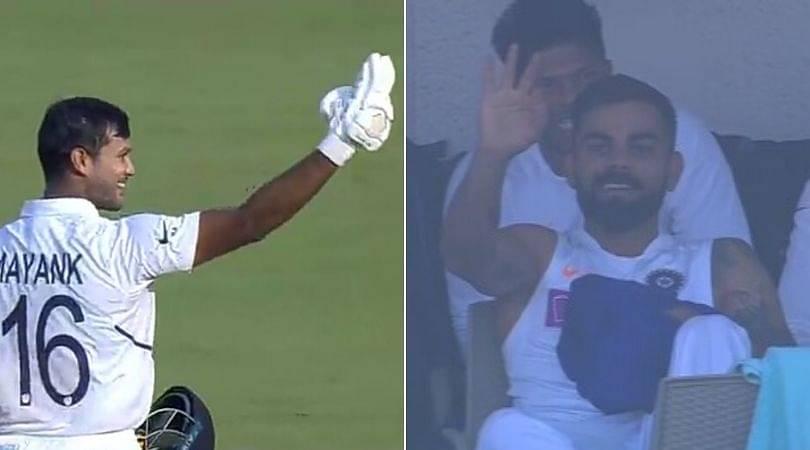 Mayank Agarwal double century: Watch Virat Kohli gestures Agarwal to score triple century in Indore Test