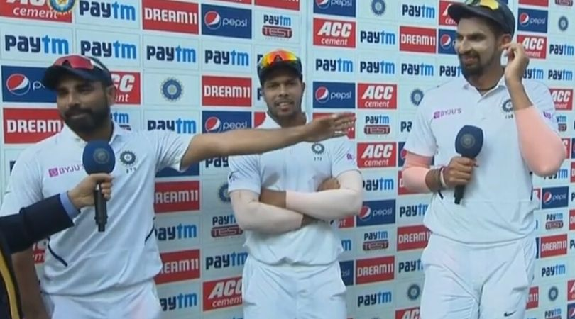 WATCH: Ishant Sharma asks Mohammed Shami secret behind taking wickets after Indore win