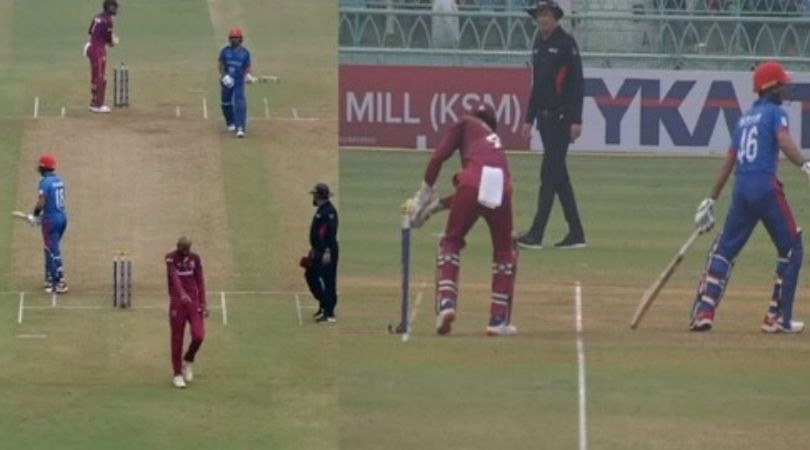Ikram Alikhil run-out vs West Indies: Watch Afghani wicket-keeper's brain fade moment leads to dismissal in Lucknow