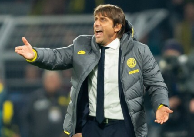 Antonio Conte vs Agnelli : Watch Inter Milan Manager Gives Juventus' Chief Andrea Agnelli The Middle Finger Treatment