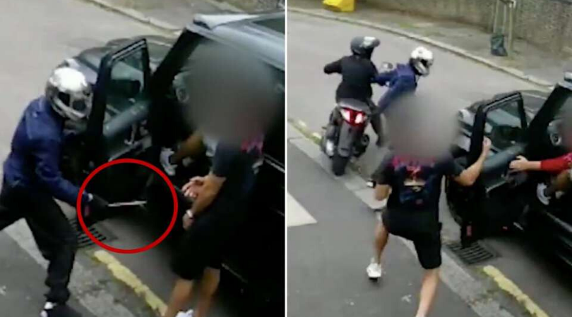 Arsenal News New footage of attack on Mesut Ozil and Saed Kolasinac shows the robbers didn't hesitate to draw a weapon