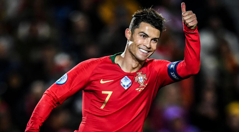 Cristiano Ronaldo turns back the clock to score an absolute stunner vs Lithuania in the Euro 2020 qualifier