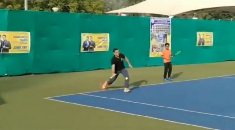 WATCH: MS Dhoni plays tennis tournament in Ranchi