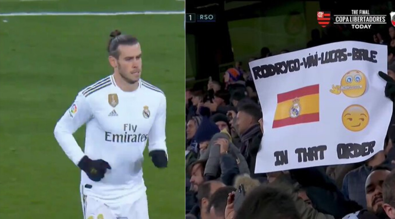 Gareth Bale greeted with boos on his Real Madrid return after Wales flag controversy