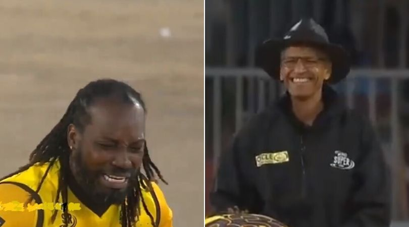 WATCH: Chris Gayle appeals hilariously to make umpire laugh in MSL 2019