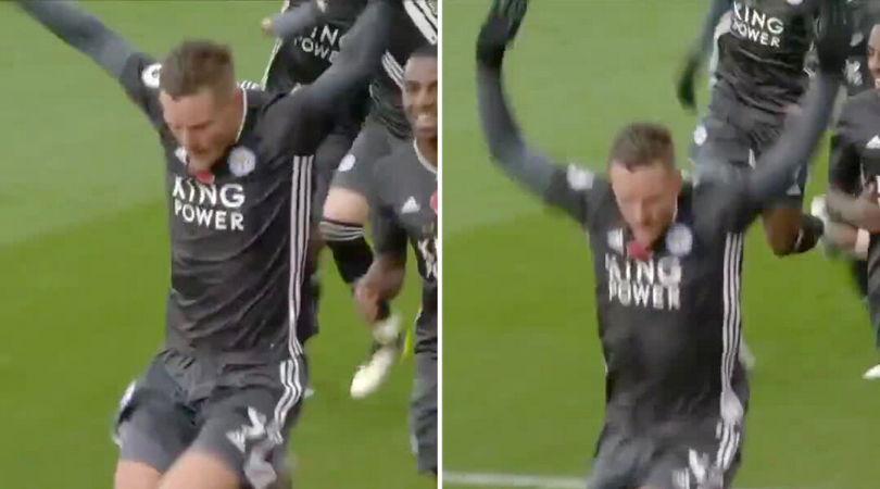 Jamie Vardy mocks Crystal Palace with Eagle dance after scoring in Leicester's win