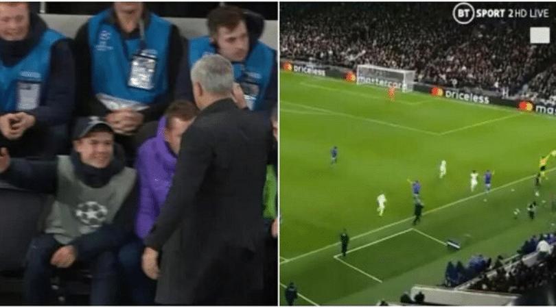 Jose Mourinho thanks ball boy as he helps Tottenham launch a comeback vs Olympiacos