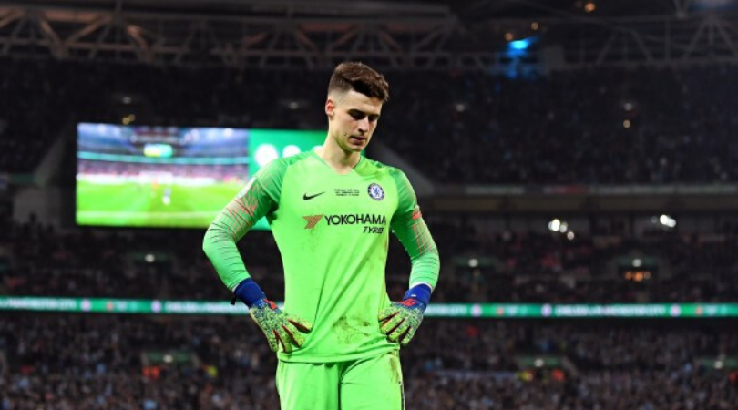 Kepa embarrassingly scores own goal after Hakim Ziyech free kick hits him in the face