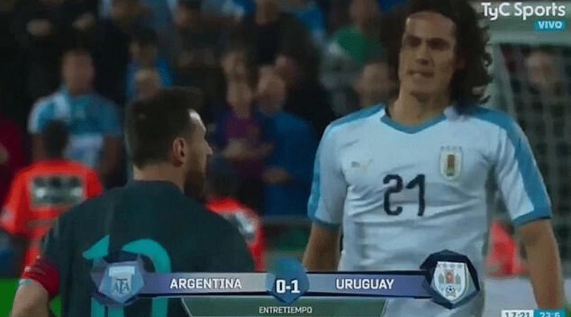 Lionel Messi Edinson Cavani fight The Argentine star was reportedly involved in a tunnel fight with Edinson Cavani