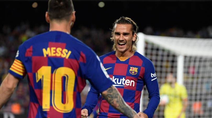 Lionel Messi and Antoine Griezmann don't see eye to eye with each other in training