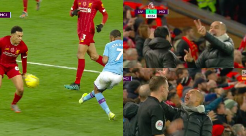 Pep Guardiola loses his rags on the sidelines after being denied yet another handball vs Liverpool
