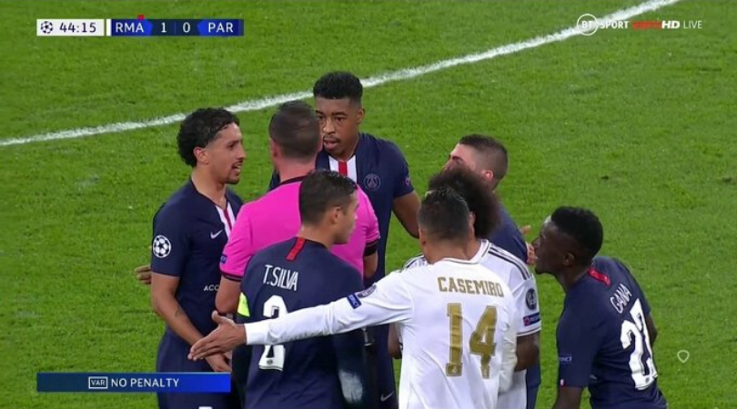 Real Madrid vs PSG VAR Controversy Thibaut Courtois sent off with a red card only for VAR to give Los Blancos a free kick