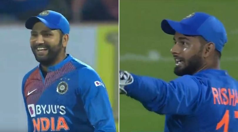 WATCH: Rohit Sharma throws hilariously to Rishabh Pant after committing error on previous delivery