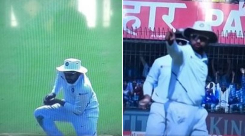 WATCH: Rohit Sharma gestures to fielding coach R Sridhar after grabbing Mahmudullah's catch in Indore Test