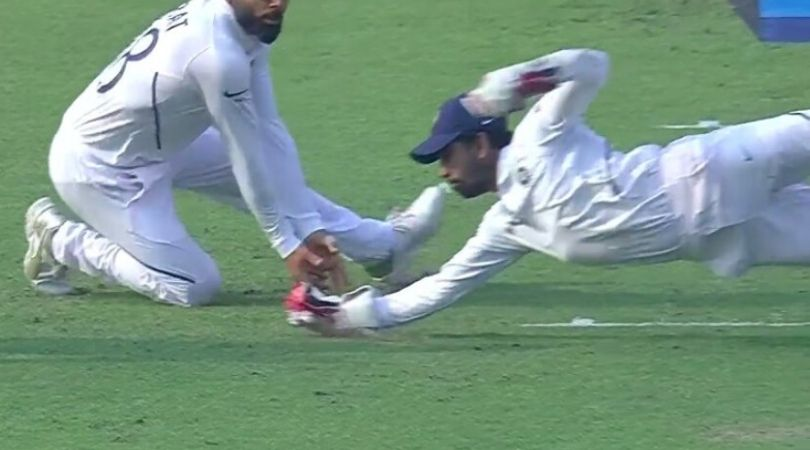WATCH: Wriddhiman Saha grabs fantastic one-handed low catch to dismiss Mahmudullah at Eden Gardens