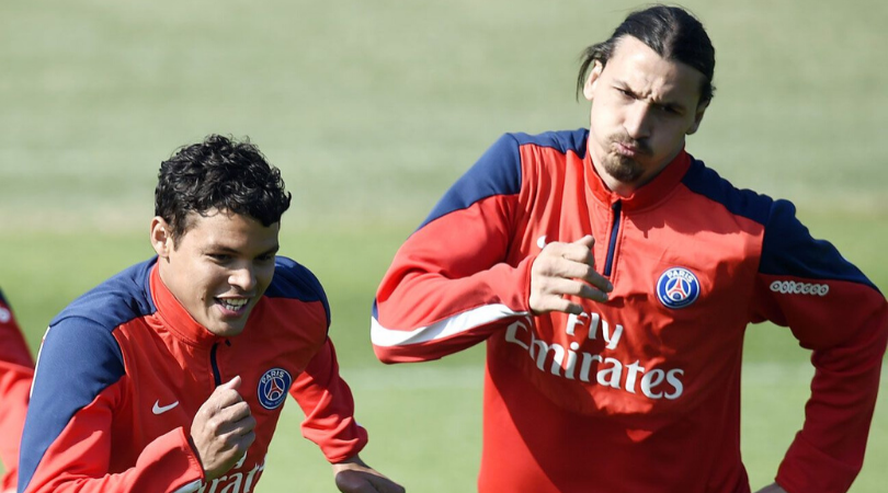 Thiago Silva reveals that Zlatan Ibrahimovic threatened to hit him if he lied about signing with PSG