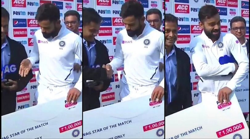 Virat Kohli had hysterical moment during presentation ceremony after record breaking series