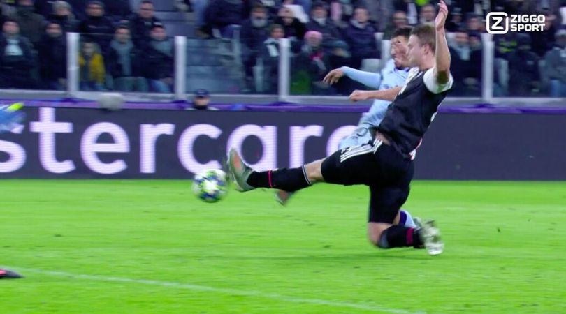 Matthijs De Ligt accurate sliding tackle saves Juventus from losing tender lead against Atletico Madrid