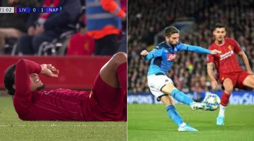 Liverpool Vs Napoli: Fans furious after VAR allows Mertens' goal after alleged foul on Van Dijk