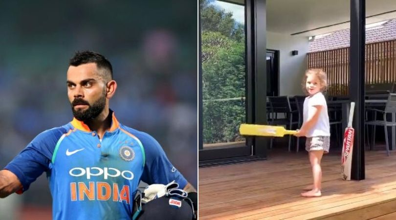 David Warner's daughter claims to be Virat Kohli in adorable video