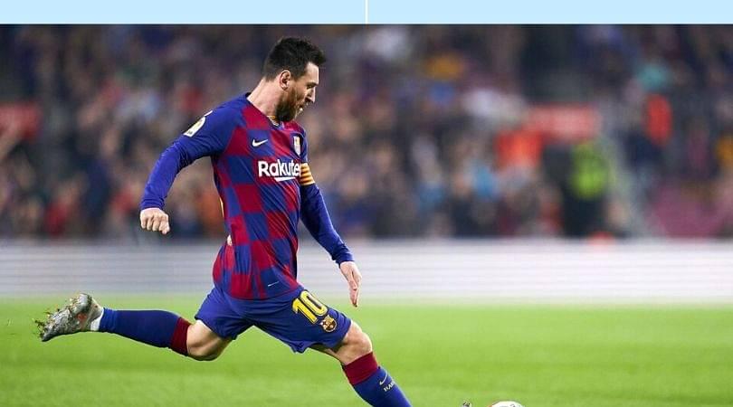 Lionel Messi scores two freekicks in span of 3 minutes against Celta Vigo last night