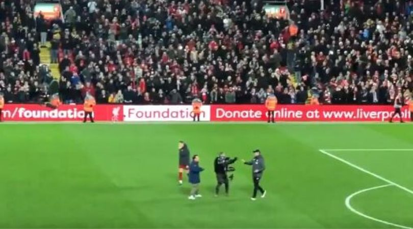Cameraman asks Jurgen Klopp to fist bump, Liverpool manager refuses