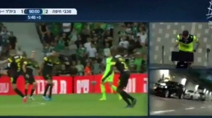 VAR shows footage of car park during match in Israeli Premier League