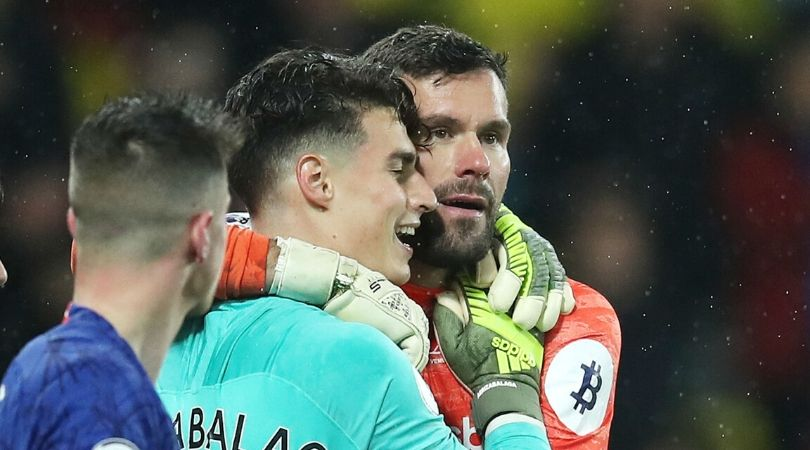 Kepa and Ben Forster share heartfelt moment after thrilling injury time showdown