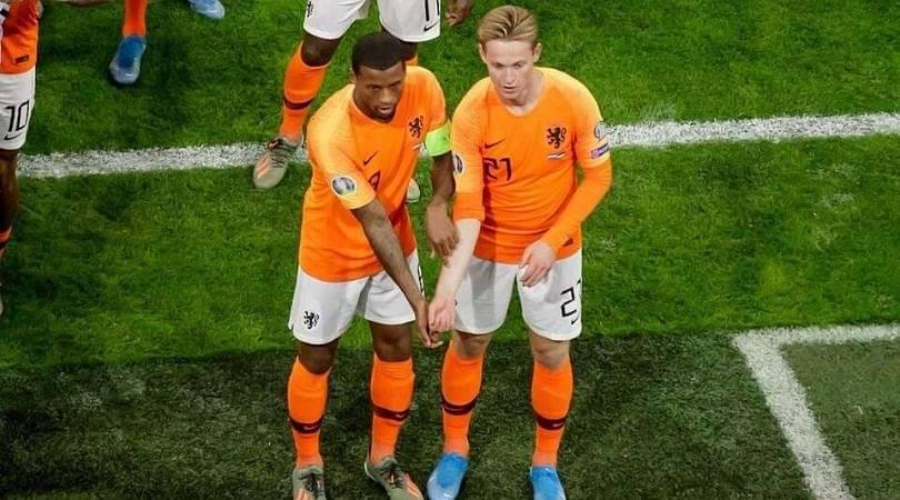 Gini Wijnaldum and Frenkie De Jong send powerful anti-racism message with goal celebration