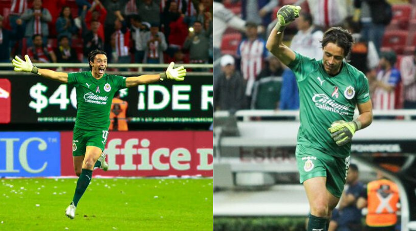 Watch Chivas Guadalajara goal keeper Tono Rodriguez scores a goal from his own Penalty area