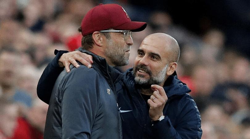 Watch Pep Guardiola offers to swap the Premier League title for Liverpool's Champions league trophy