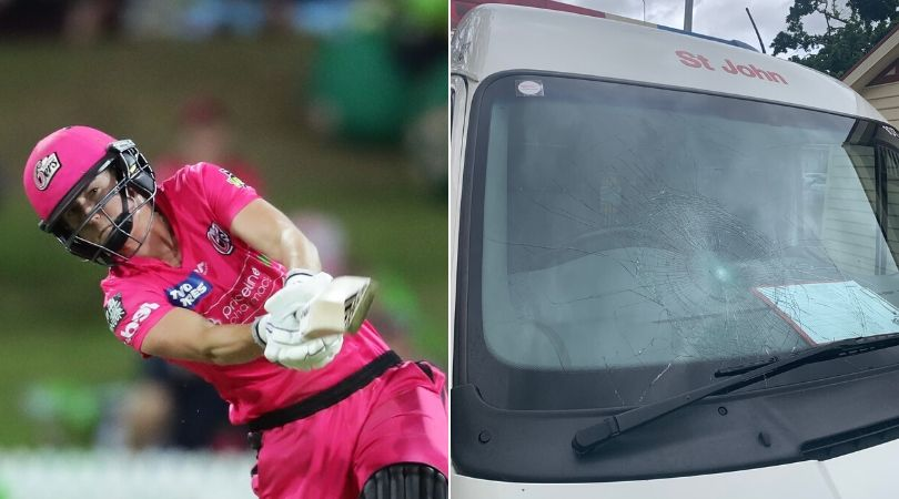 WATCH: Ellyse Perry breaks mirror of ambulance with colossal six in Women's Big Bash League