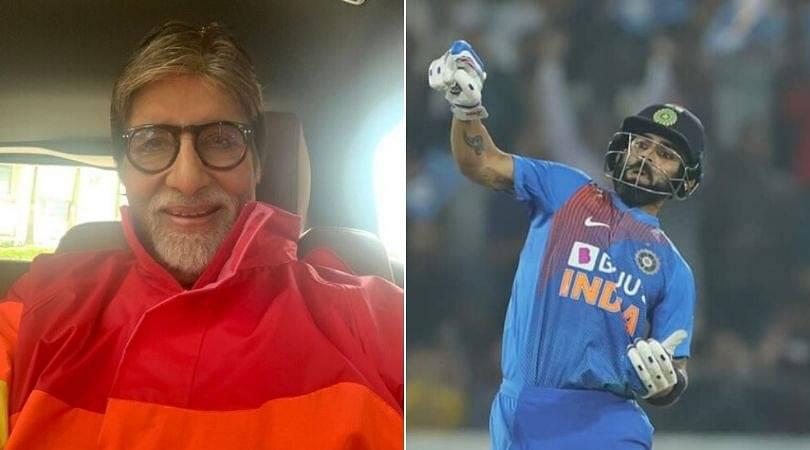 Virat Kohli responds to Amitabh Bachchan's tweet on Notebook Celebration in Hyderabad T20I