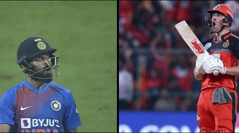 AB de Villiers tweets about Virat Kohli's six off Kesrick Williams