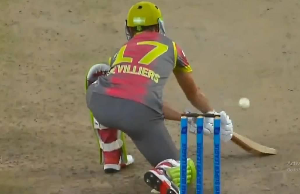 WATCH: AB de Villiers nails reverse scoop off Junior Dala in MSL 2019