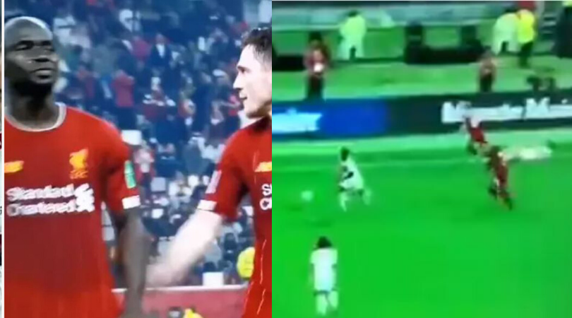 Andy Robertson clattered Rafinha after promising Sadio Mane that he would get revenge on him during the Club World Cup final