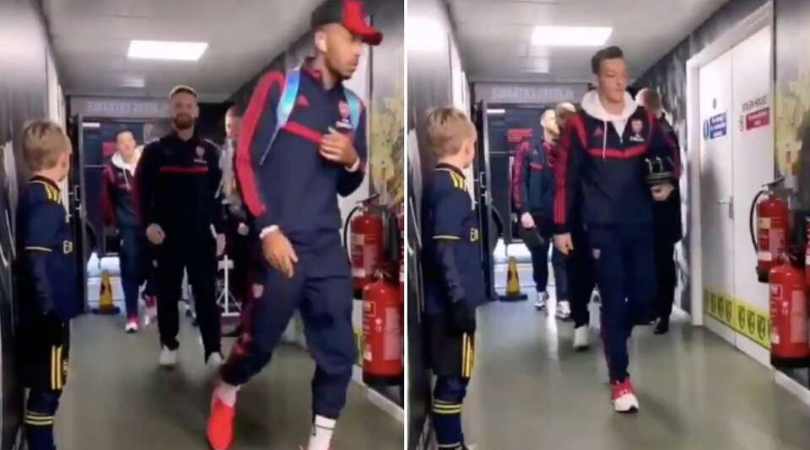 Arsenal players filmed ignoring young club mascot vs Norwich