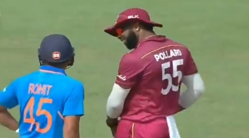 """""""Yeh bakhchod hai"""": Watch Rohit Sharma taunts Kieron Pollard during Chennai ODI"""