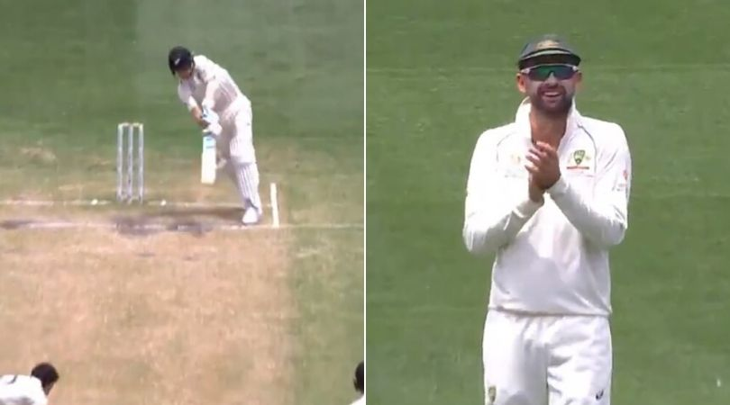 WATCH: Ball lost after Trent Boult's awkward defense off Mitchell Starc; Nathan Lyon bursts into laughter