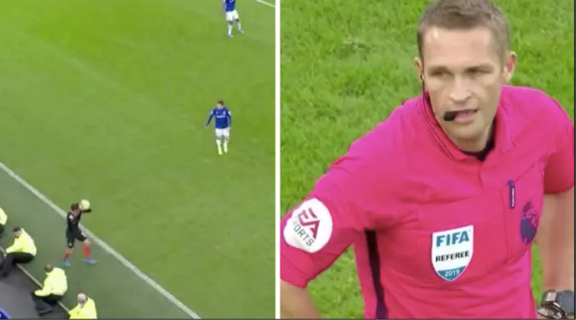 Christian Pulisic foul throw in, termed the worst he's ever seen by ref during Everton vs Chelsea
