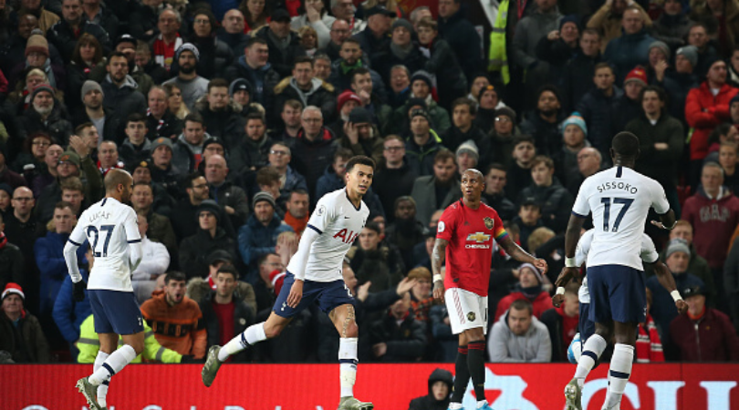 Dele Alli displays absolute control and world class touch to score close range stunner vs Man Utd