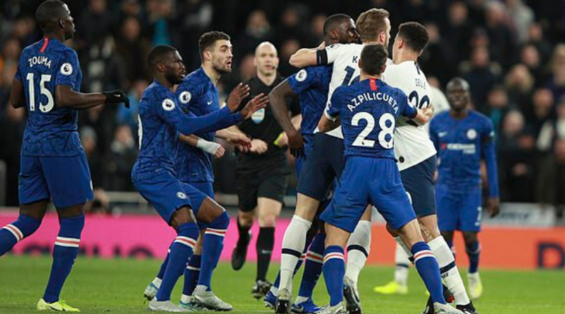 Dele Alli And Matteo Kovacic Brawl During The London Derby Between Tottenham And Chelsea The Sportsrush