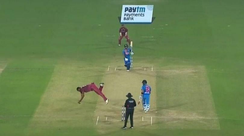 WATCH: Kieron Pollard grabs tremendous caught and bowled to dismiss Shreyas Iyer in Hyderabad T20I