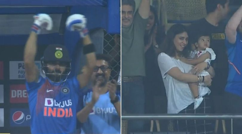 WATCH: Virat Kohli and Ritika Sajdeh celebrate Rohit Sharma's 19th T20I half-century vs West Indies