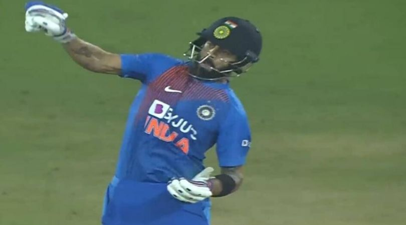 Virat Kohli reaction vs West Indies: Watch Indian captain 'ticks boxes' in aggressive reply to Kesrick Williams in Hyderabad T20I