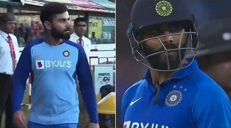 WATCH: Virat Kohli walks down the pavilion to speak to third umpire regarding Ravindra Jadeja's run-out