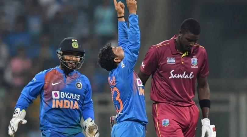 WATCH: Kuldeep Yadav registers second ODI hat-trick vs West Indies in Visakhapatnam